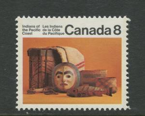 STAMP STATION PERTH Canada #570 Indian of Pacific Coast 1974 MNH CV$0.30