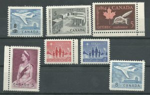 Can #430-436   M NH VF 1964 PD