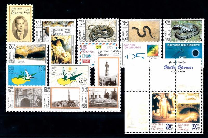 [51522] Turkish Cyprus 1999 Complete Year Set with Miniature sheet MNH