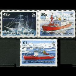 BR.ANTARCTIC TERR. 2005 - Scott# 350-2 Ships Set of 3 NH
