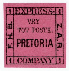 (I.B-CK) Transvaal Local Post : Bakker's Express 1d (Pretoria)