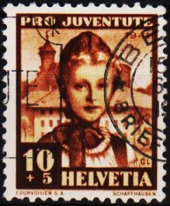 Switzerland. 1941 10c+5c S.G.J97 Fine Used