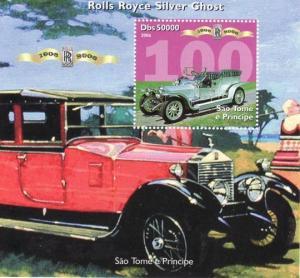 St Thomas - Rolls-Royce  Souvenir Sheet 19A-036