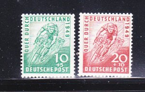 Germany B304-B305 Set MNH Bicycle Racers