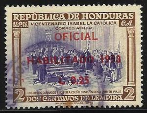 Honduras Air Mail 1953 Scott# C214 Used