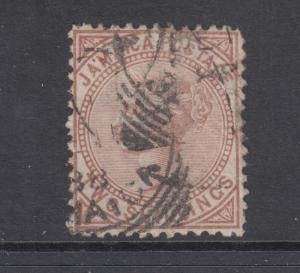 Jamaica Sc 14 used 1875 2sh red brown Queen Victoria, F-VF