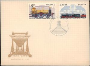 Poland, Worldwide First Day Cover, Trains