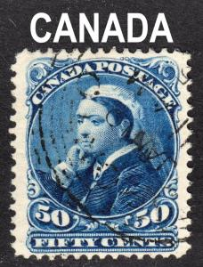 Canada Scott 47 F to VF used with a light unobtrusive cancel.