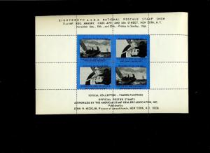 4 DIFFERENT COLOR SHEETS 1966 ASDA NATIONAL POSTAGE STAMP SHOW L741 NY