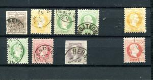 Austria classic lot  one mint, one office in Turkey  nice cancels