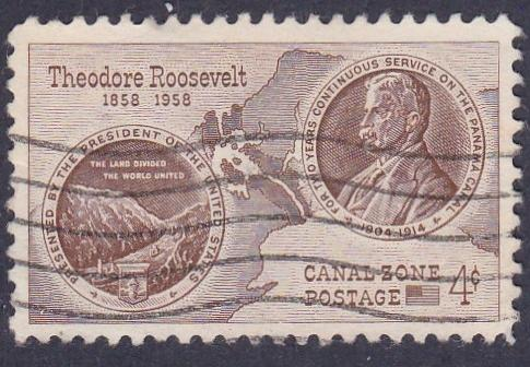 Canal Zone # 150, Roosevelt Medal, Used