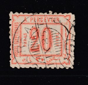 Egypt a used 20p Post Due from 1884