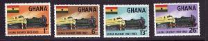 Ghana-Sc#156-9-unused NH set-Trains-id2-1963-