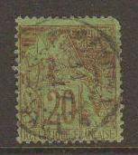 French Colonies #52 Used