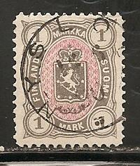 Finland 35 1885 1m Arms Used