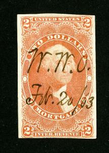 US Stamps # R82a VF Used Scott Value $150.00