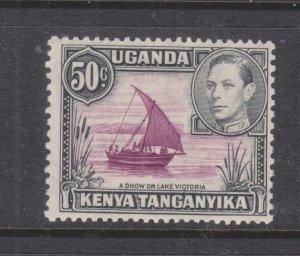 KENYA, UGANDA & TANGANYIKA, 1938 KGV, 13 x 11 3/4. 50c., lhm., gum toning.