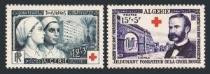 Algeria B74-B75,MNH.Michel 331-332. Red Cross 1954.Hospital,J.Dunant.Djemila.