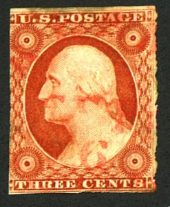 U.S. #10A USED RED CANCEL