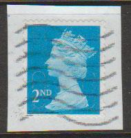 GB QE II Machin SG U2961 - 2nd brt blue - M13L - Source  B