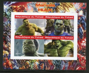 Chad 2021 Marvel's Hulk imperforate sheet mint nh