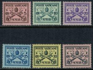 Vatican City #1-6*  CV $4.00