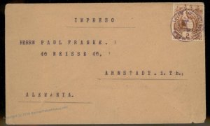 1900 Guatemala Arnstadt Germany Cover 92802