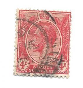 Malaya Straits Settlements 1918 - Scott #154 *