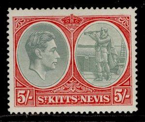 ST KITTS-NEVIS GVI SG77a, 5s grey-green & scaret, M MINT. Cat £140.