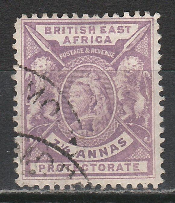 BRITISH EAST AFRICA 1896 QV LIONS 71/2A USED