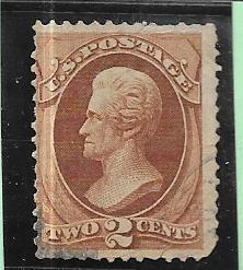US # 146 2c Jackson  Red Brown  (U) CV. $20.00