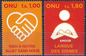 United Nations Geneva #485-6  MNH  CV $6.25 (V5109)