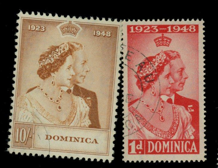 Dominica #114-15 Used F-VF Cat$32.75