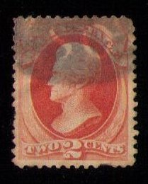 US Sc #146 Used Jackson Pale Red Brown  2c  F-VF