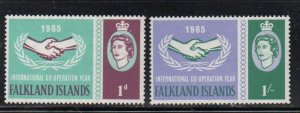Falkland Islands Sc 156-7 1965 ICY stamp set mint NH