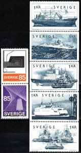 Sweden #1094-1100 F-VF Unused CV $4.80  (X5724)