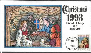 US Collins FDC SC#2789 Christmas 1993