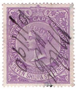 (I.B) Cape of Good Hope Revenue : Stamp Duty 7/6d (1876)