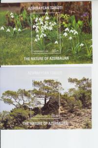 2017 Azerbaijan Nature of Azerbaijan (5) SS (Scott 1159-61+2 NA) MNH