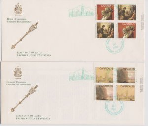 CANADA FDC FROM HOUSE OF COMMONS STAMPS #849-852  LOT#M114