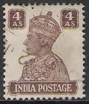 India #176 G VI Used