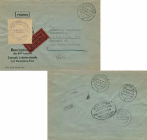 Germany East Germany Official Free Mail 1964 Brandenburg (Havel) 1 Special De...