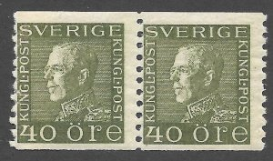 Doyle's_Stamps: VF MH 1929 Swedish Scott #183* Coil Pair of Stamps
