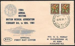 NEW ZEALAND 1961 Br Medical Assoc. cover and special cancel, scarce........78950