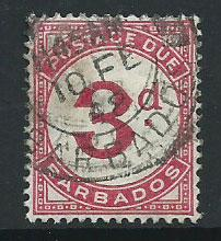 Barbados SG D3  Used  Postage Due