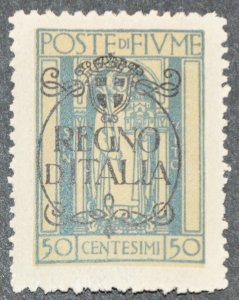 DYNAMITE Stamps: Fiume Scott #190 – MINT hr