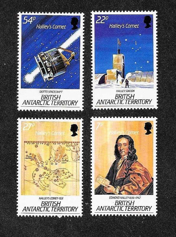 British Antarctic Territory 129-132 Mint NH MNH Halley's Comet!