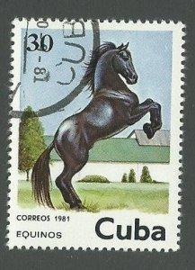 1981 Cuba Scott Catalog Number 2437 Used