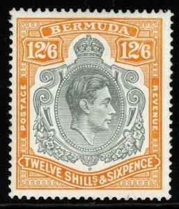 BERMUDA SG120d 1947 12/6 GREY & YELLOW(RPS CERT) MTD MINT