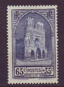 J24631 JLstamps 1938 france set of 1 mh #b74 cahedral